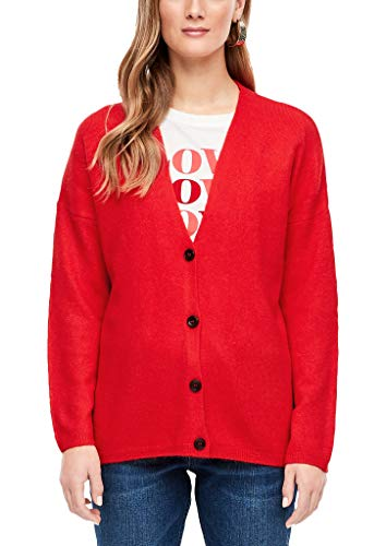 s.Oliver RED Label Damen Fein Flauschiger Cardigan red S