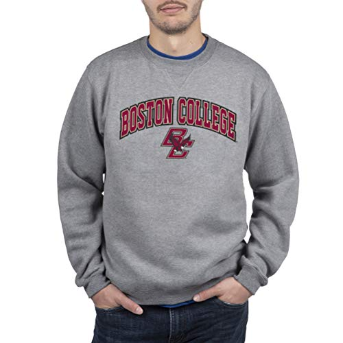 Top of the World Boston College Eagles Men's Crewneck Charcoal Gray Sweatshirt, Large