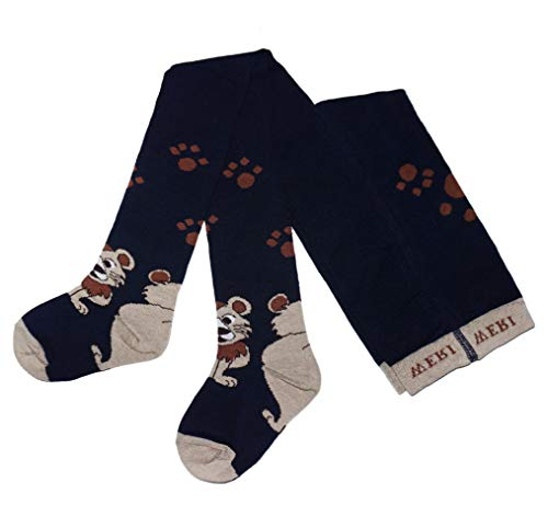 Weri Specials Bas de contention en coton pour bébé et enfant Motif lion - Multicolore - 3 mois