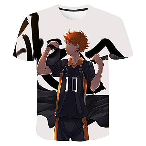 PERRTWDLF Couple T Shirt Camiseta de Voleibol Junior Unisex impresin 3D Manga Corta Hombre Mujer Verano Anime japons Divertido Camiseta Adolescente Ropa deportiva-1115_4XL