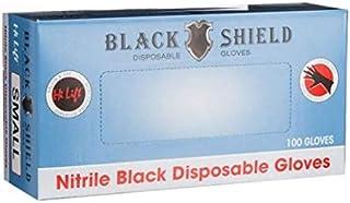 Hi Lift Nitrile Disposable Gloves 100 Pieces, Black, Medium, 100 count