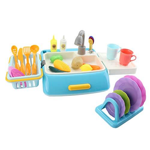 lijun 42Pcs / Set Simulation Küchenspielzeug Spray Wasser Geschirr Kinderspielzeug Kochtisch Set