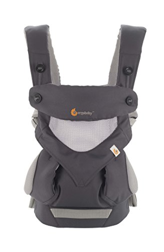 Ergobaby 360 All Carry Positions Ergonomic Baby Carrier, Cool Air Mesh plus Swaddler in Medium/Large