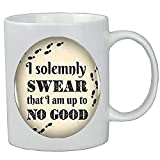 I solemnly Swear That I am up to No good Quote Mug,I solemnly Swear That I am up to No good Coffee Mug,Cabochon Statement Coffee Mug For Women Men.Y243