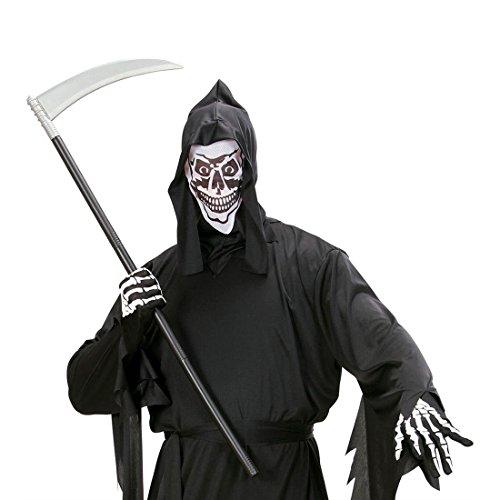 Amakando Faucille Faucheuse Arme Zombie Mort frissons Horreur démontable 101 cm Couteau Effrayant soirée à thème Halloween Carnaval déguisement
