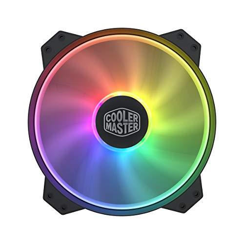 Cooler Master MasterFan MF200R ARGB 200 mm ventilador RGB direccionable, 5 V/3 pines, no funciona con 4 pines RGB o estándar RGB+12 V