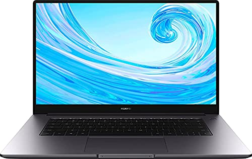 HUAWEI MateBook D 15, Intel Core i3-10110U, 8GB RAM, 256GB SSD, 15,6 Zoll Laptop, 1080p FHD FullView Bildschirm, Schlankes Metallgehäuse, Windows 10 Home, Fingerabdrucksensor, QWERTZ-Layout, Space Grau