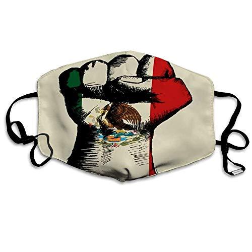 Mundschutz Gesichtsschutz Skizze der Faust mit Mexiko-Insignien