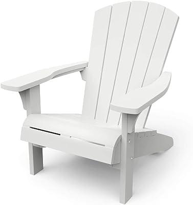Keter Troy Adirondack Chaise de Jardin Blanc