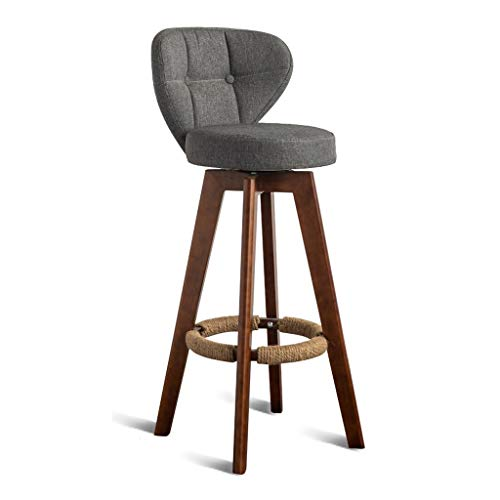 CHY Wooden Barstools With Backs, Swivel Bar Stools Set Of 4, Outdoor Bar Stools Counter Height,For Kitchen Indoor Home Bar Chairs (Color : Gray, Size : Bar stools set of 3)