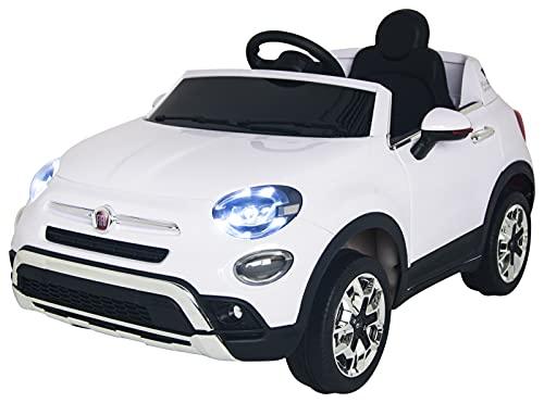 Colibrì Macchina Elettrica per Bambini   FIAT 500X   Baby Car Auto con Telecomando Macchinina   NOVITÀ 2021  Bianco Gelato