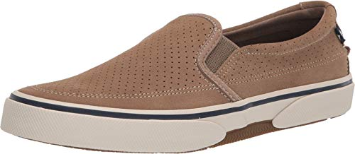 Sperry Mens Halyard Slip On Sneakers Casual Sneakers, Brown, 11.5