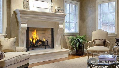"Why Should You Buy 42"" Wood Burning Fireplace with Ivory Split Stacked Liner"
