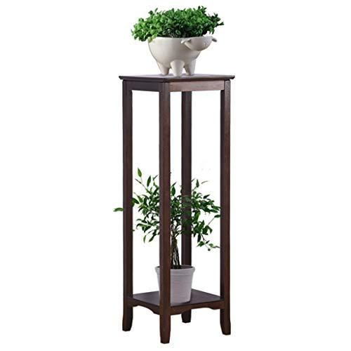 Étagères d'angle Jardinière D'intérieur Fleurs Pot Rack Salon Plancher-Debout Jardinière De Ménage Usine De Soutien en Bambou À La Main Cadeau (Color : Brown, Size : 33 * 75cm)