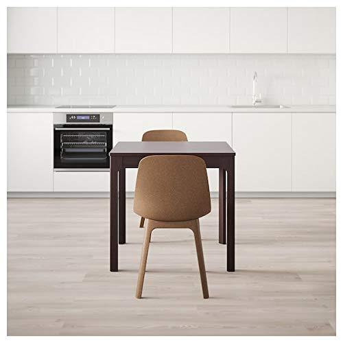 EKEDALEN/EKEDALEN Tisch und 2 Stühle, dunkelbraun / braun, 80/120 cm, strapazierfähig und pflegeleicht, Essgruppe bis zu 2 Sitzplätze, Esstisch und Schreibtische, Möbel, umweltfreundlich