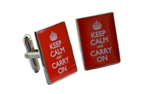 Cheesy Cufflinks Keep Calm and Carry on Manschettenknöpfe