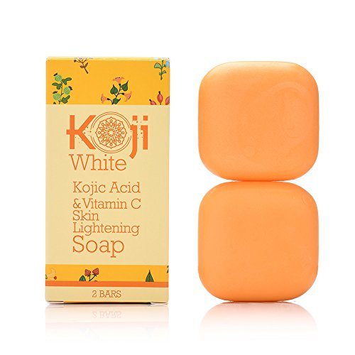 Kojic Acid & Vitamin C Whitening Soap (2.82 oz / 2 Bars) - Reduce Wrinkles, Fades Age Spots, Sun Damage - Smooth And Soft Complexion For Face & Body