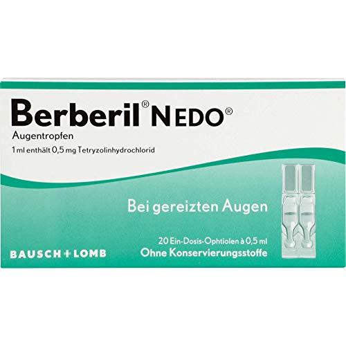Berberil N EDO Augentropfen bei gereizten Augen, 20 St. Einzeldosispipetten