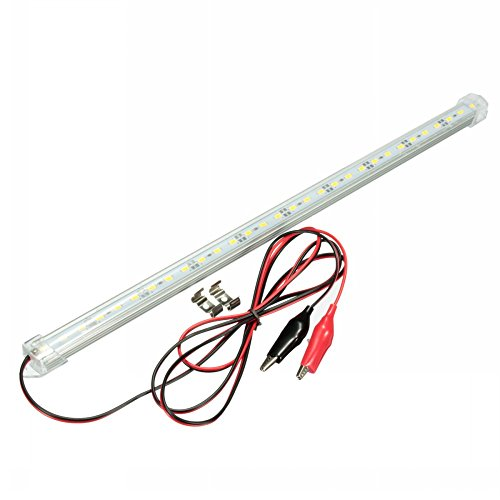 MFPower SMD 5630 LED-lichtbalk, transparant, 12 V, 40 cm, voor binnen, caravan, bar, aquarium Warm wit.