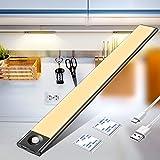 Luz Armario, Luces Armarios con sensor Movimiento USB Recargable 72LED Armario Luz Nocturna Para Armario, Cocina,Escalera, Pasillo