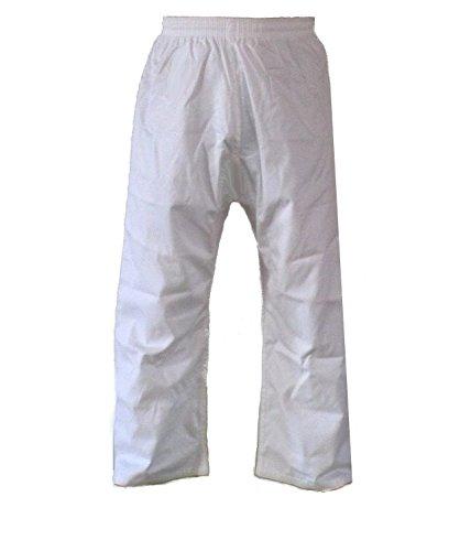 Budodrake Taekwondo Hose weiß, Mischgewebe (180)