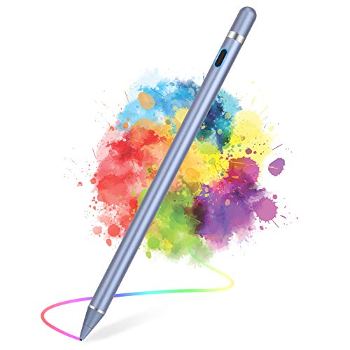 Active Stylus Pens for Touch Screens, Active Pencil Smart Digital Pens Fine Point Stylist Pen Compatible with iPhone iPad,Samsung/Android Smart Phone&Tablet Writing Drawing by maylofi (Blue)