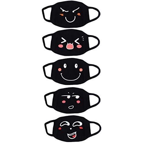 MIRRAY Unisex Wiederverwendungsn Weiß Niedlich Kawaii Waschbar Gesichtsbedeckung Schutzhülle Staubdicht
