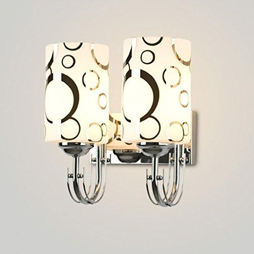 SKC Lighting-Applique murale Lampe de table en verre en acier inoxydable à la mode à la fine pointe de la lumière (taille : Double head)