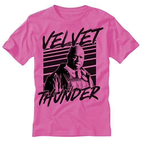 electricitees Velvet Thunder 99 Holt Brooklyn T Shirt (Small, Pink)