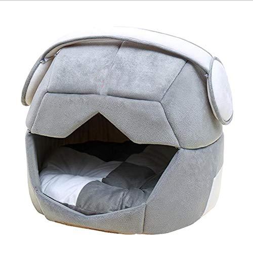 Hond Bed, Space Cap Huisdier Wasbare Kennel Inklapbare Huisdier Wasmachine Maximaal Geschikt voor 10 KG Zware Huisdier, XL, Grijs