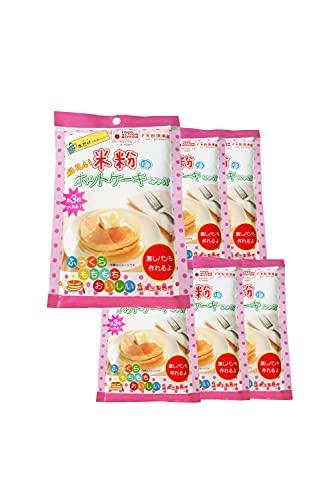AGカフェ グルテンフリー 卵なし でもおいしい 国産 米粉 ホットケーキミックス 180g×6 まとめ買い セット アルミフリー 無添加 小麦不使用 国産 富山県産