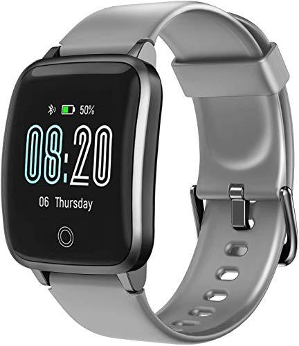 Vigorun Smartwatch Reloj Inteligente Hombre Mujer,  Pantalla Táctil Completa Relojes Deportivos,  Monitor Ritmo Cardíaco y Sueño,  Podómetro,  Impermeable Pulsera Actividad Inteligente Android