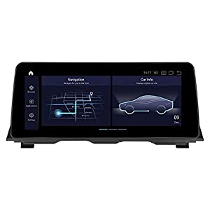 PEMP for BMW f10 f11 Android 12.3″ IPS 1920×720 Touch Screen, Qualcomm 8-core 4GB+64GB Carplay Android auto Display, for 5 Series(2012-2017) NBT (8Core 12.3 NBT)