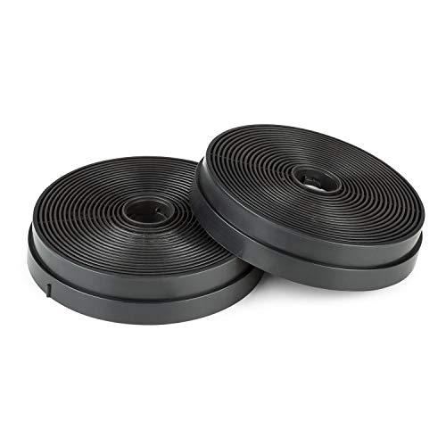 Klarstein Skyfall Smart - filtro de carbón activo para campana extractora, pieza de recambio, 2 filtros de carbón activo, ventilación, filtro de carbón de 17,5 (Ø) x 3,5 cm, negro