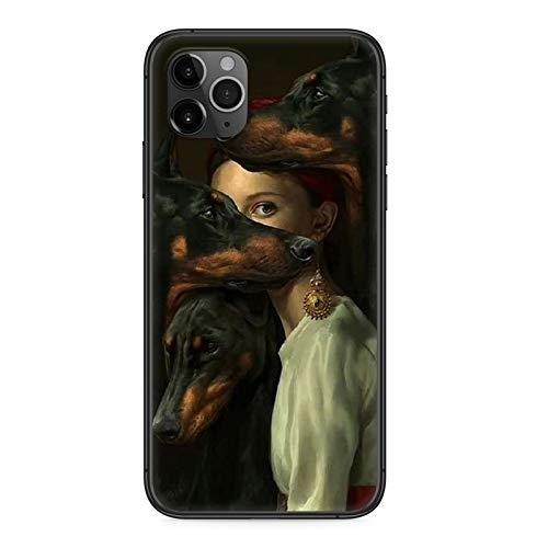 XUFAN Doberman Perro Fresco Caja del teléfono for iPhone 4 4S 5...