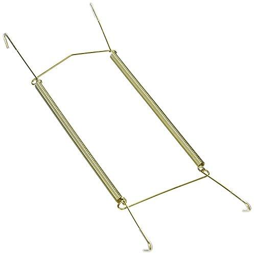 Gancho para platos, soporte para platos decorativo de pared con protector de punta, soporte para colgar platos con resorte invisible en forma de U (14 pulgadas) (10 pulgadas, 3 unidades)