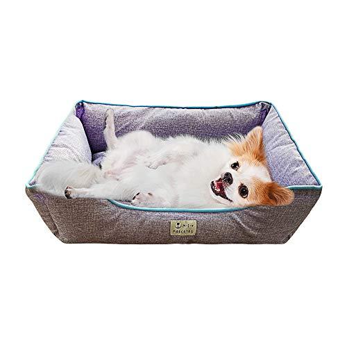 DZL- Cama de Perros y Mascotas Básica Desmontable y Extraíble Regalo Manta Perro Camas para Perros Gatos Alfombra para Mascotas(L-60 * 72 * 18CM, Morado)