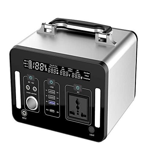 Generador portátil de 1000WH / 270000MAH Puerto CA CA D C Puerto PD CARGA GENERADOR SOLAR UPS Fuente de alimentación de carga de la batería para CPAP CAMPING (Color : EU PLUG)