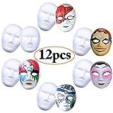Máscara Blanca, Outgeek 12PCS DIY Máscara Blanca Para Pintar De Disfraces Decoración De Bricolaje...