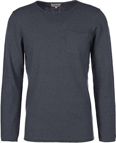 Nowadays Herren Pullover Linen Optic Jumper, Blau (Blue Black 626), X-Large