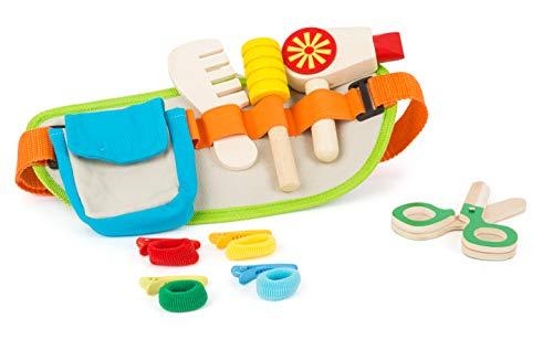 Small Foot 11050 Frisiergürtel mit reichhaltigem Zubehör, für Kinder ab 3 Jahren Spielzeug, Mehrfarbig