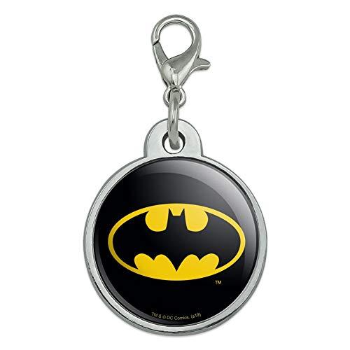 GRAPHICS & MORE Batman Classic Bat Shield Logo Chrome Plated Metal Pet Dog Cat ID Tag