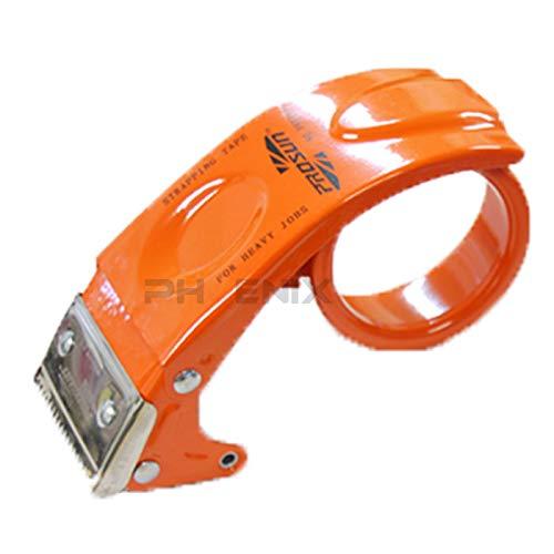 テープカッター 金属製 テープ ガムテープ OPPテープ ハンドテープカッター 梱包 荷造り 引っ越し 壊れにくい 丈夫 テープカッター,橙