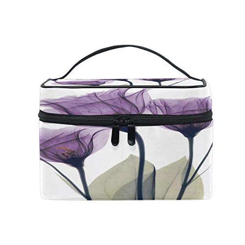 Square Cosmetic Bag Makeup toiletry Bag Lavender Hope Flowers Travel Case Organizer for Women