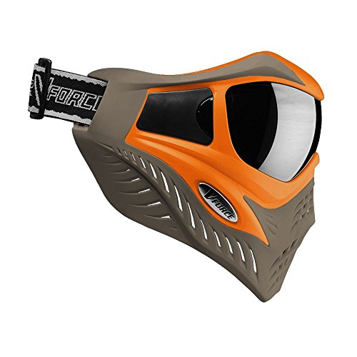 VForce Grill Paintballmaske mit Thermalglas, Orange on Taupe, SPECIAL EDITION
