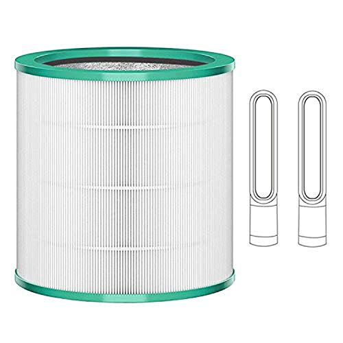 True HEPA Filter Compatible with Dyson Pure Cool Link and Tower Purifier TP02 and TP03 Models, Approx7.5 (Fit 1st & 2nd Generation), Part # 968126-03