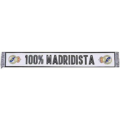 Oficial Bufanda Real Madrid - Telar Color Bianco/Nero