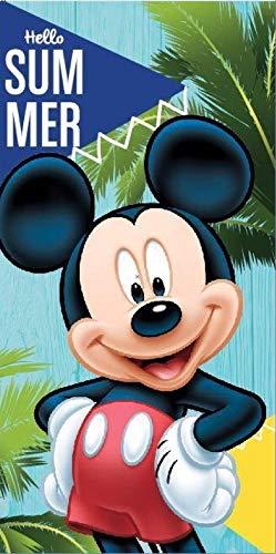Various Toalla de Playa Infantil con Licencia Oficial Disney (Mickey Mouse)