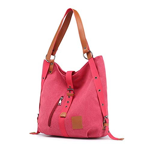 PLTyfsail Vintage 2 Way Canvas Totes Bag Large Canvas Duffel Bag Travel Tote Weekend Bags for Women