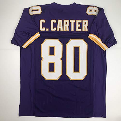 Unsigned Cris Carter Minnesota Purple Custom Stitched Football Jersey Size Men's XL New No Brands/Logos